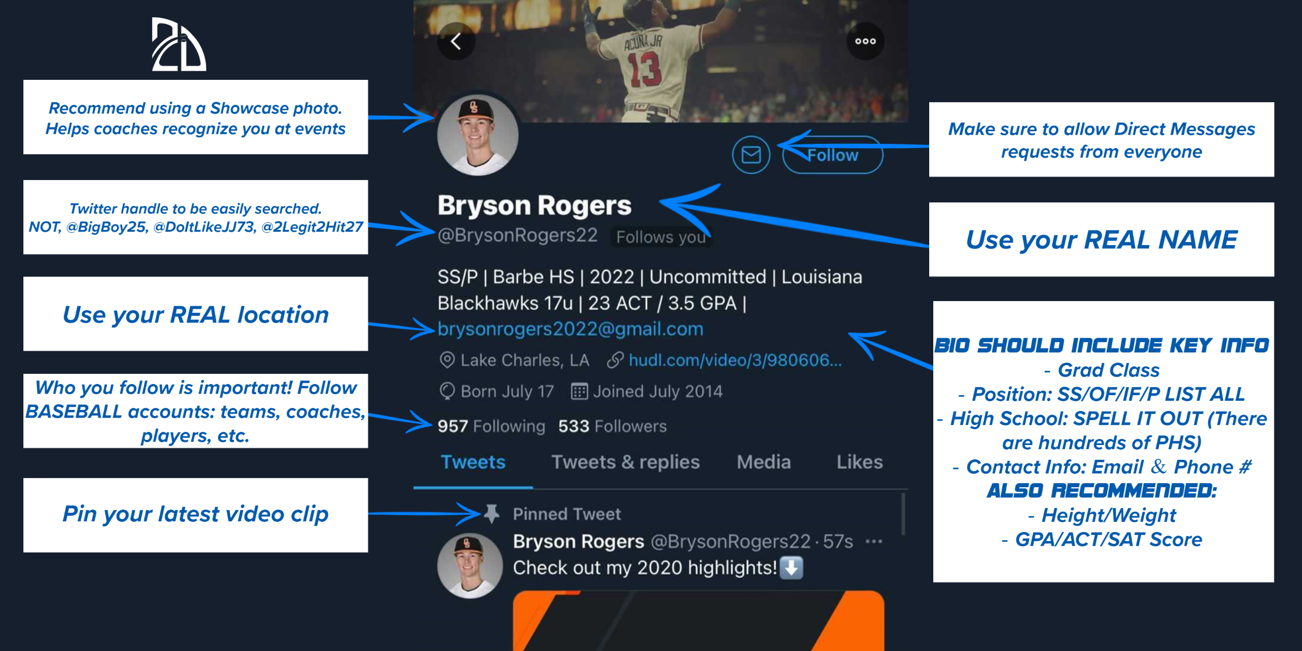 recruiting profile on Twitter
